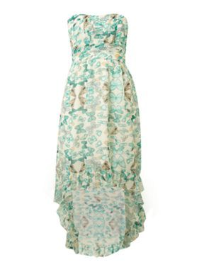 Pussycat Butterfly dip hem dress Aqua - House of Fraser