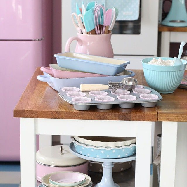 Passionforbaking S Photo On Instagram Pastell Küche - Shabby Chic Küchenutensilien