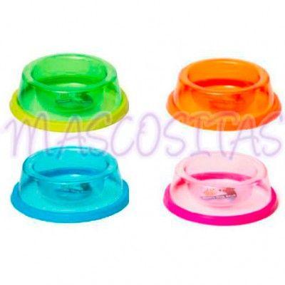 Comederos Transparentes en colores variados