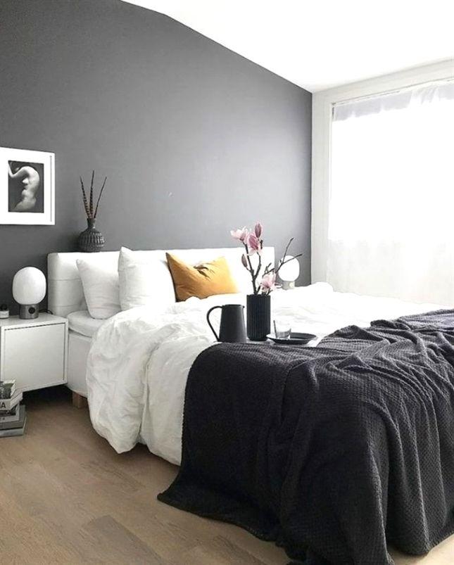 Graue Schlafzimmer Wandfarbe Ideen #bedroom Sets