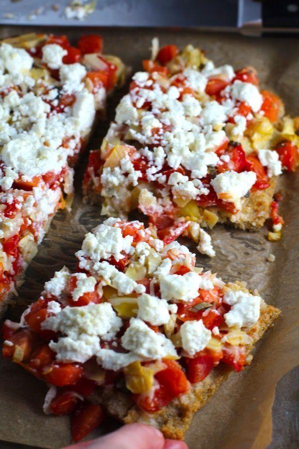 Quinoa Crust Tomato, Artichoke, & Goat cheese Tart This Tomato, Artichoke, & Goat Cheese Tart is a