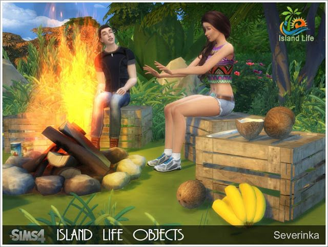 Sims 4 Cc S The Best Island Life Objects By Severinka Sims