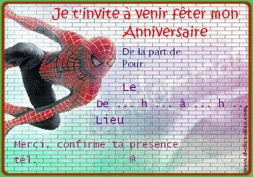 invitation pour fête d'anniversaire enfant à imprimer, gratuite - o.k. U X   Carte anniversaire ...
