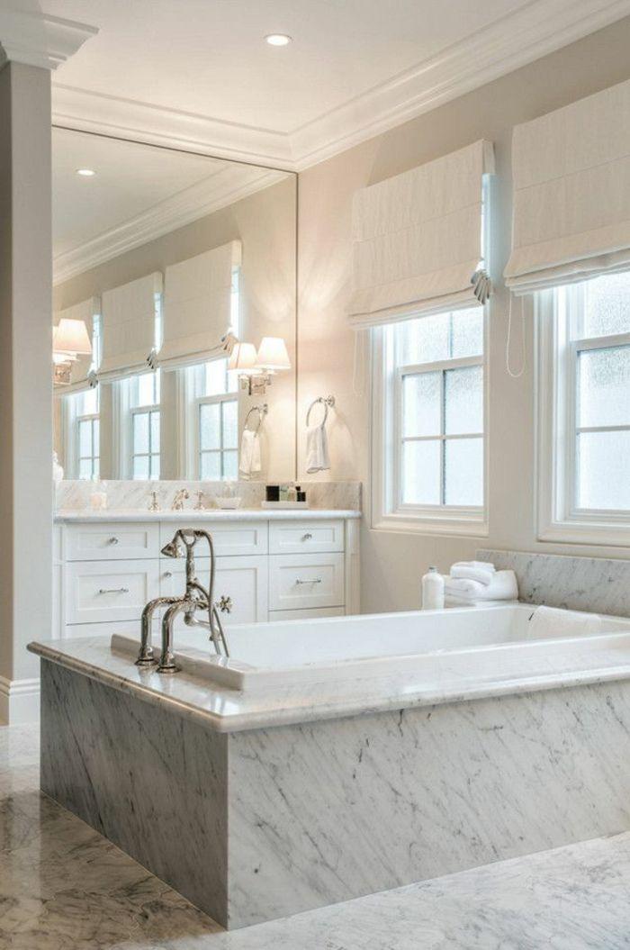 Beaucoup d 39 id es en photos pour la salle de bain en marbre pinterest salles de bains en for Grand miroir sol