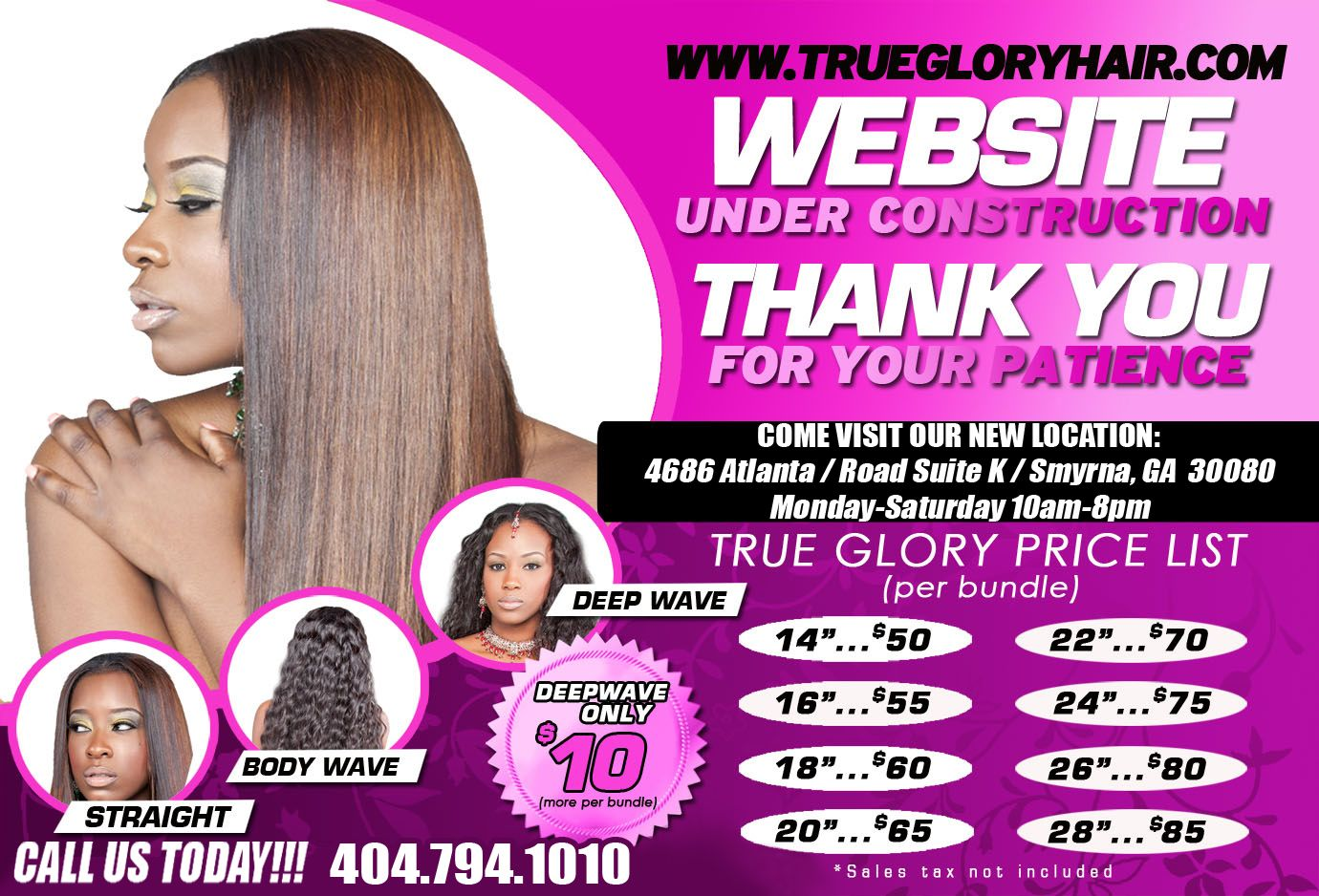 True Glory Hair Virigin Brazilian Located In Smyrna Ga