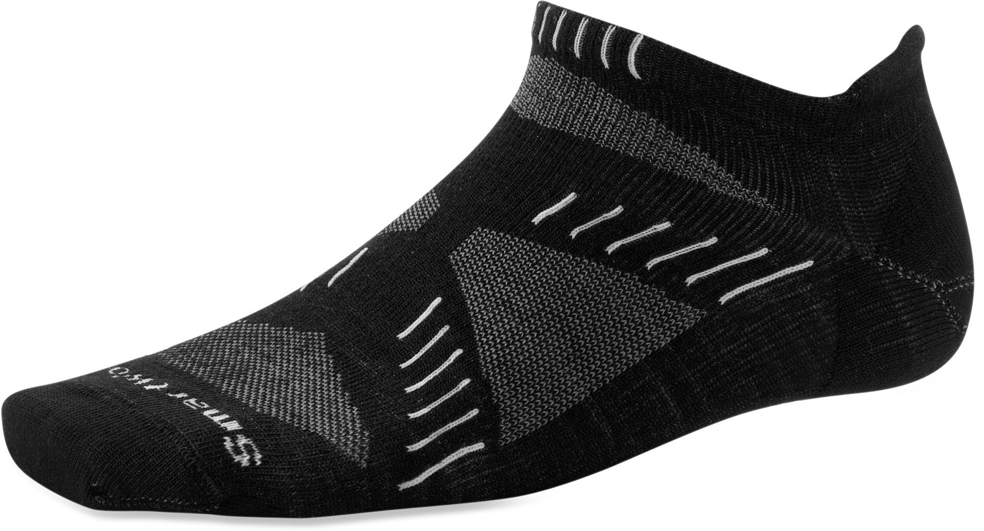 Womens More Mile Vermont Grey Wool Blend Sports Running Trainers Socks