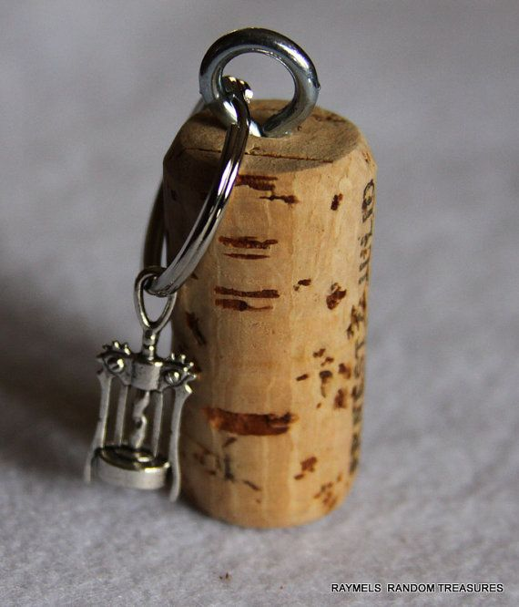 nautical cork keychain corkscrew wine bottle opener by raymels gifts for dad. Black Bedroom Furniture Sets. Home Design Ideas