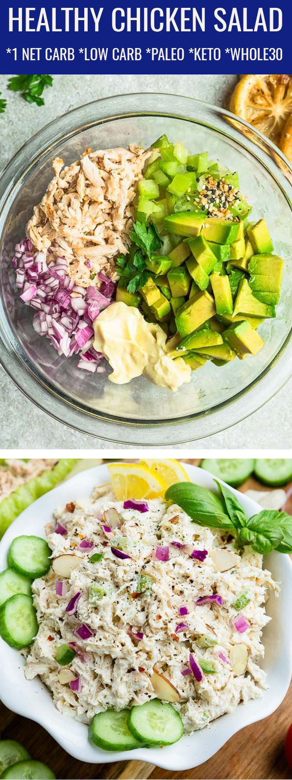 This Healthy Chicken Salad Is Very Easy To Make And The Perfect Lunch Light Dinner Or Healthy