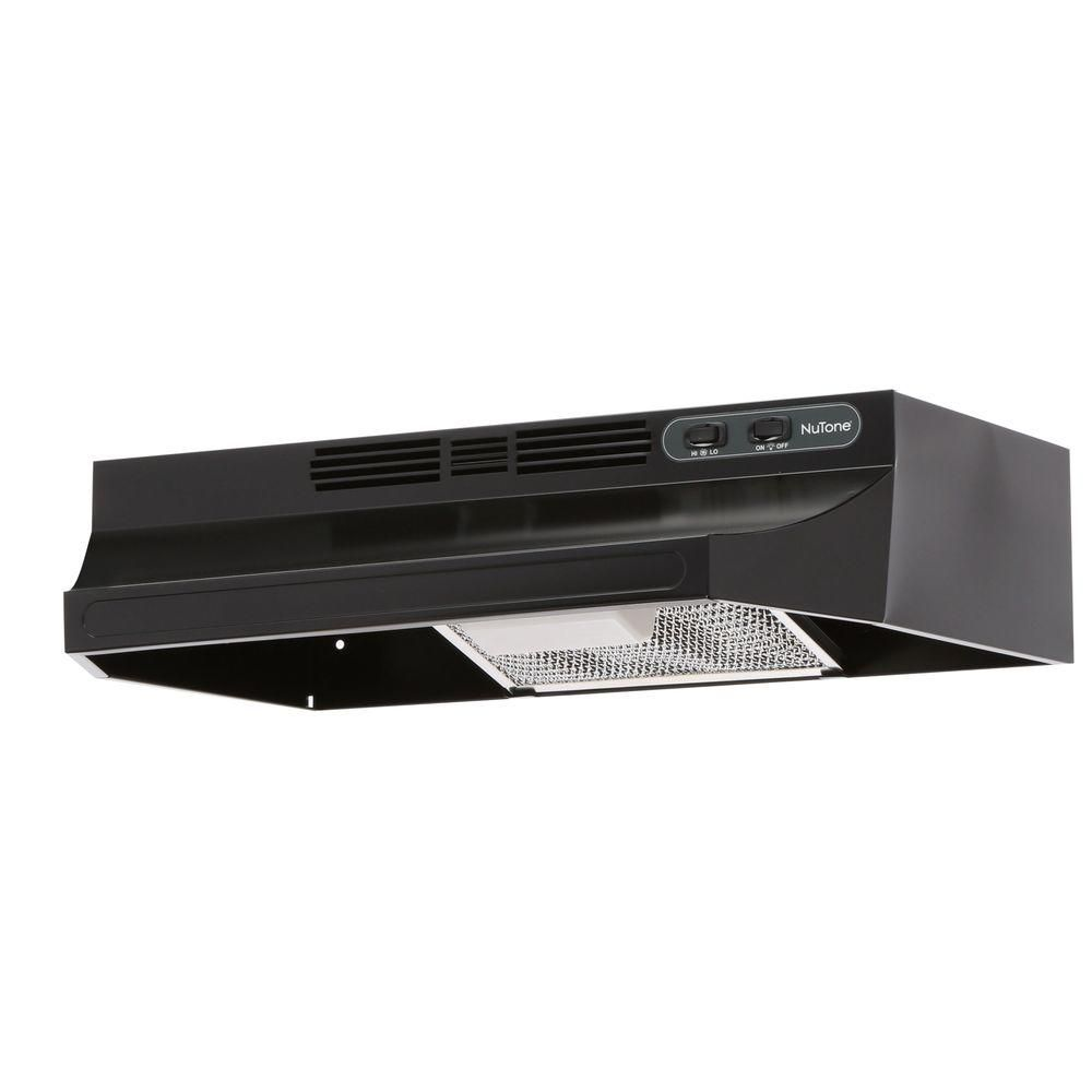 Broan Nutone Rl6200 Series 24 In Ductless Under Cabinet Range Hood With Light In Black Rl6224bl The Home Depot Range Hood Under Cabinet Range Hoods Broan