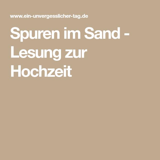 Hochzeit lesung spuren im sand