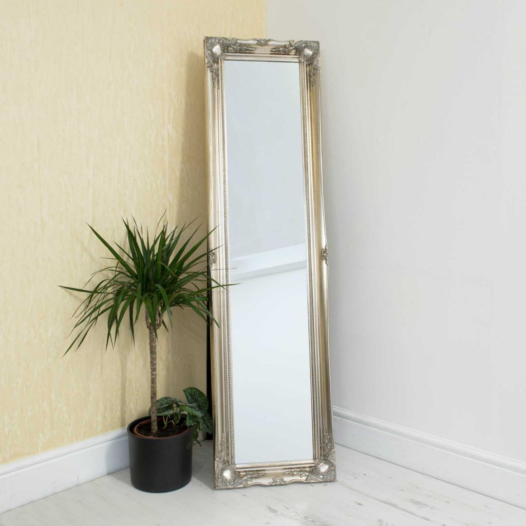 Westminster Antique Silver Free Standing Mirror 167x45cm ...