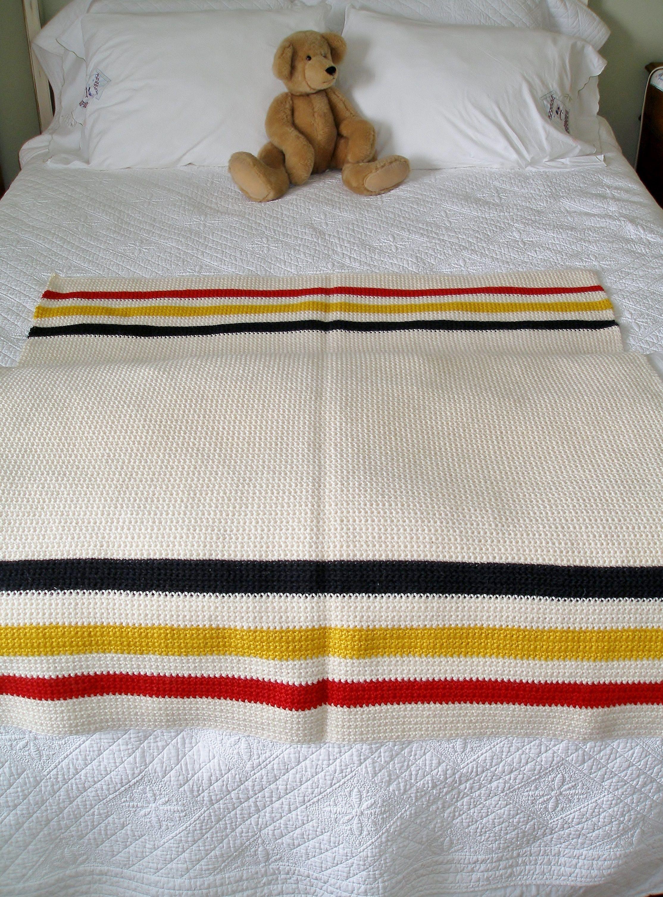 single crochet hudson bay blanket | Crochet | Pinterest
