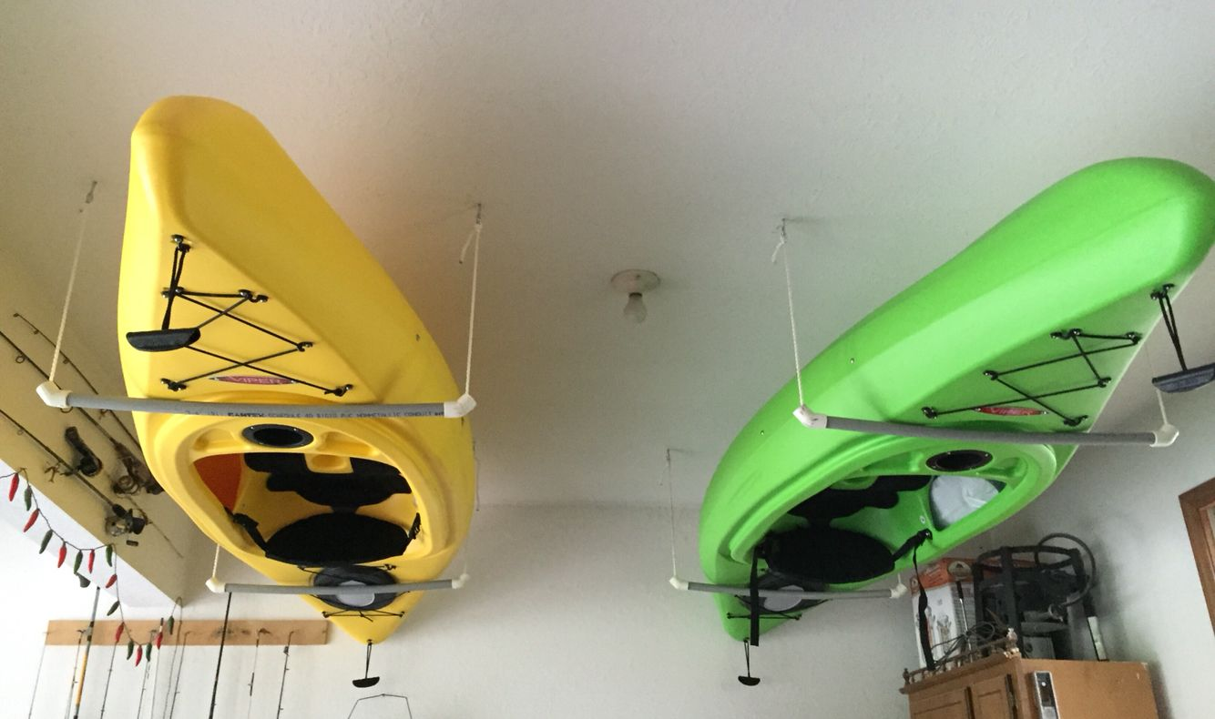 Easy Way To Hang Kayaks All You Need Is Rope Pvc Pipe
