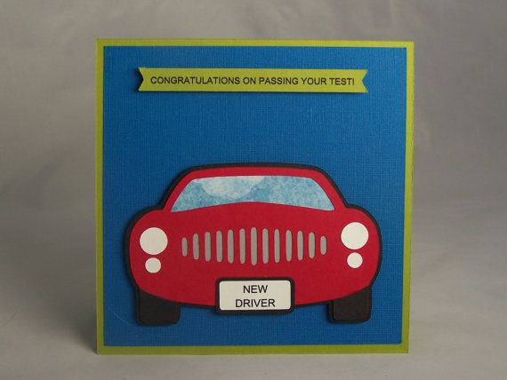 Stampin Up Handmade Greeting Card: New Driver, Congratulations, Celebration, Driver's Test, License, Teen, Teenager, Driving, Car, Boy, Girl