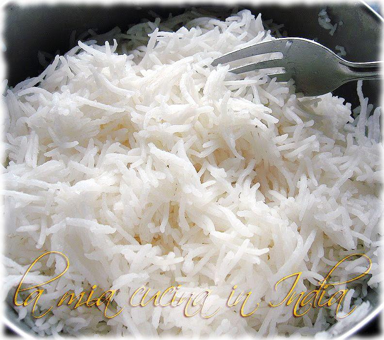 la mia cucina in india come cucinare il riso basmati in