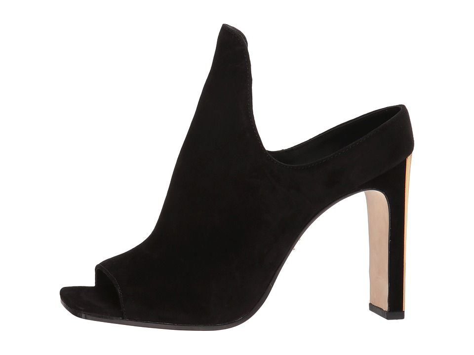 6c262f78bb877 Donna Karan Sutton Mule High Heels Black Suede | Products | Heeled ...