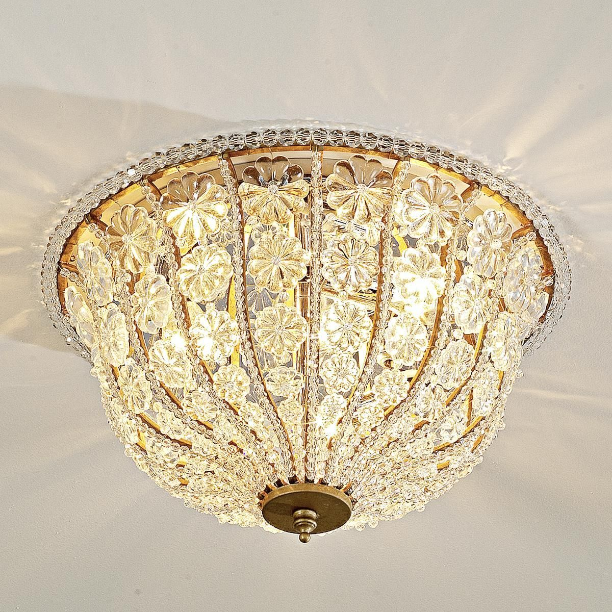 Crystal rosette ceiling light for eight foot ceilings pinterest