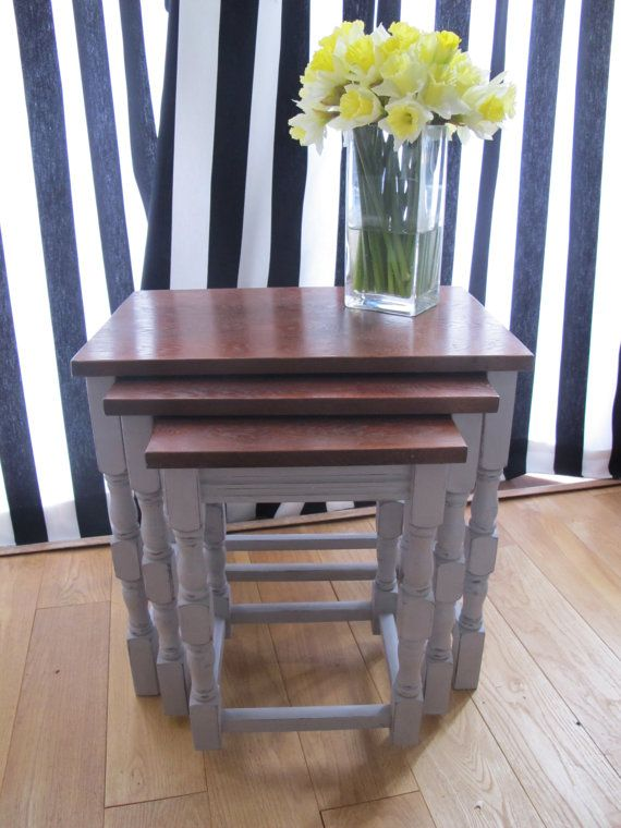 Shabby Chic Chalk Painted Furniture With Annie Sloan Paloma   Warm Grey