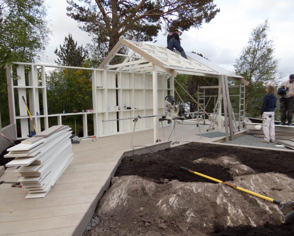 Photo of ACCOYA: Alt i hagen ble bygget med Accoya-materialer. FOTO: TID FOR HJEM / TV 2