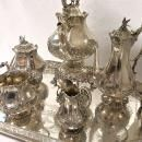 Exceptional Quality Sterling Silver Antique Tea Set & Tray