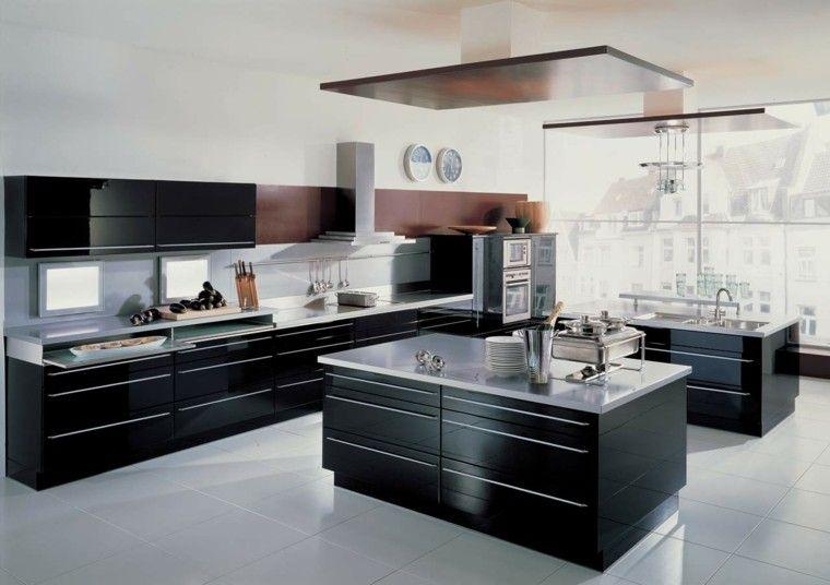 Cocinas blancas y negras - 50 ideas geniales a considerar Ideas para