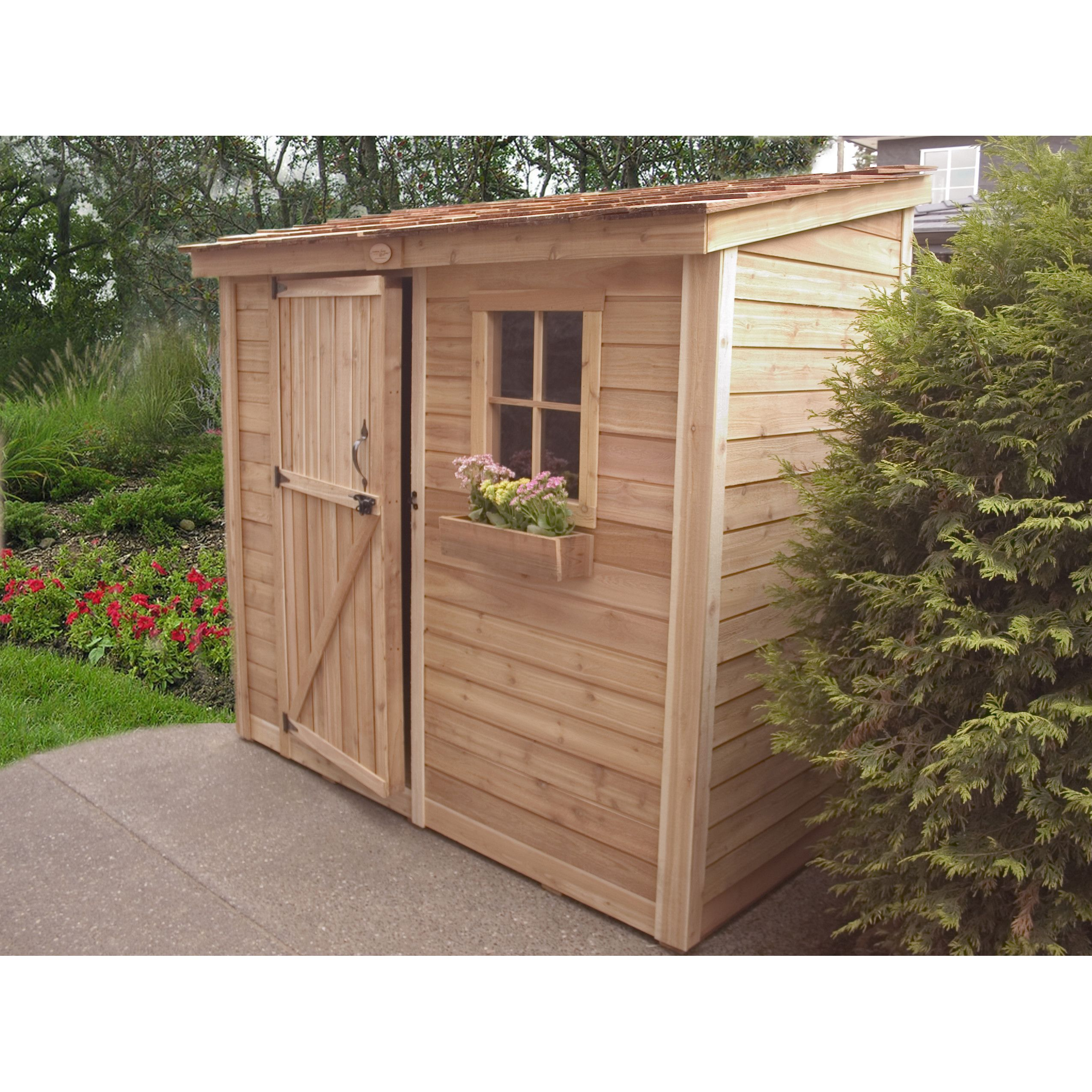 spacesaver 8 58 ft w x 4 58 ft d wood lean to tool shed d