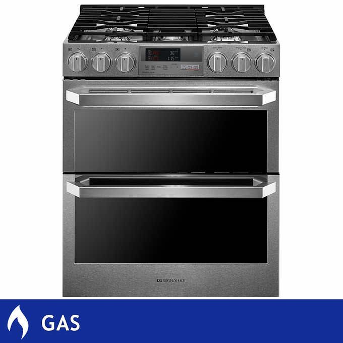 Lg Signature 7 3cuft Dual Fuel Slide In Gas Convection Range With