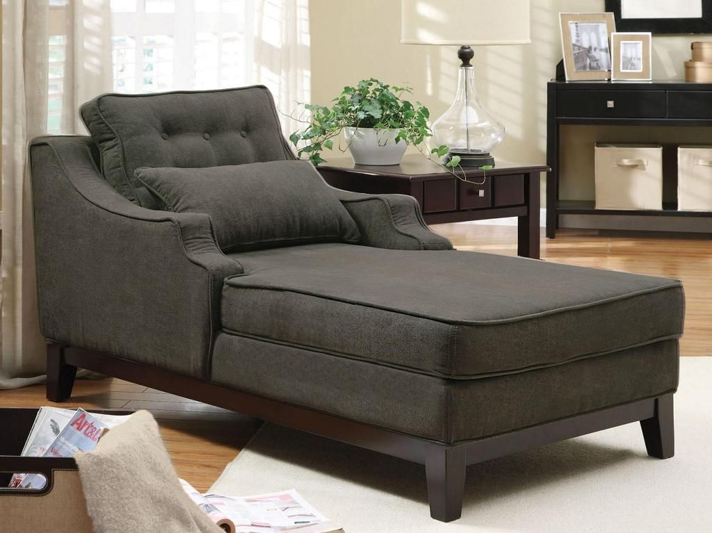 Charcoal Velvet Chaise Lounge Chair : mini chaise lounge chairs - Sectionals, Sofas & Couches