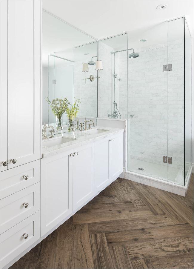 Spotlight Wood Look Flooring Patterns Bathroom Remodel Master