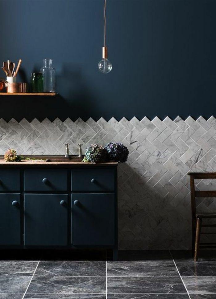 1001 Decors Avec La Couleur Canard Pour Trouver La Meilleure Solution Carrelage Mural Cuisine Carelage Gris Carrelage Mural
