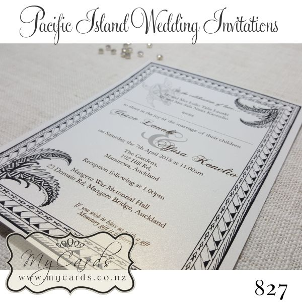 Wedding Invitations Nz New Zealand Pacific Island Design 827 Auckland Mycards Island Wedding Invitation Wedding Invitation Design Wedding Invitations