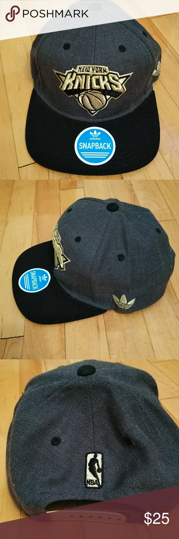 8350e73b105 Knicks black gray and gold snapback hat Knicks black gray and gold snapback  hay . Accessories Hats