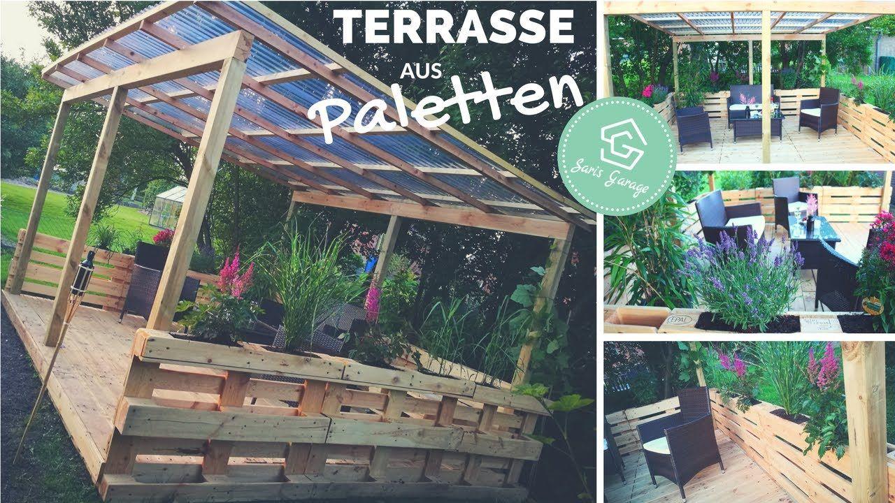 terrasse aus paletten selber bauen - palettenmöbel - europaletten