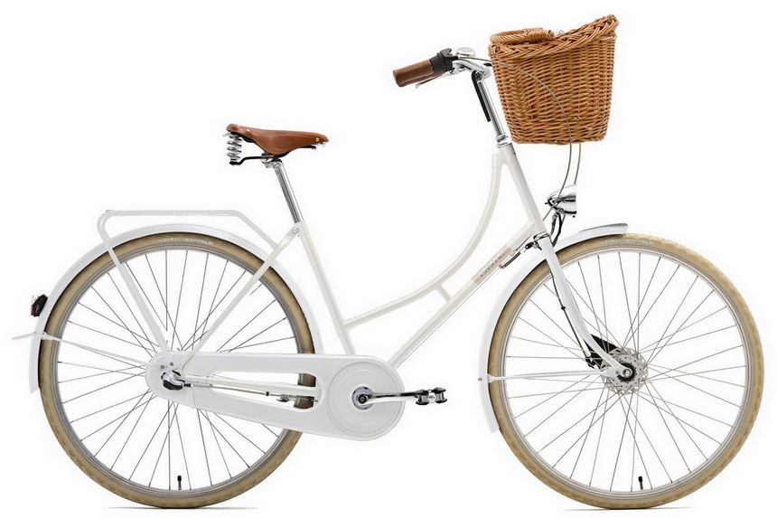 Mom Bought A Front Basket For My Bike On My 19th Birthday I Still Like The Look Of A Front Bike Basket White Bike White Bicycles Beautiful Bike