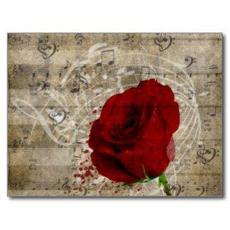 beautiful rose music background