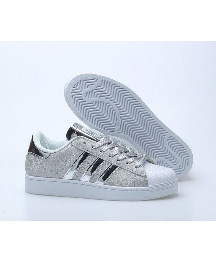 822bb83effeb6 Unisexe Adidas Superstar Grise, Argent, Blanche | Chaussures adidas ...