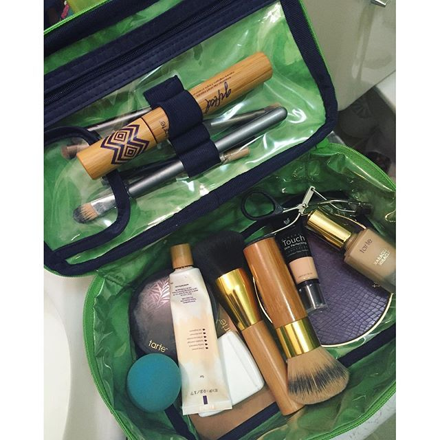 The Glamour Case stores all your glamorous makeup in one place when you travel or keeps it off the counter. - Hope B.