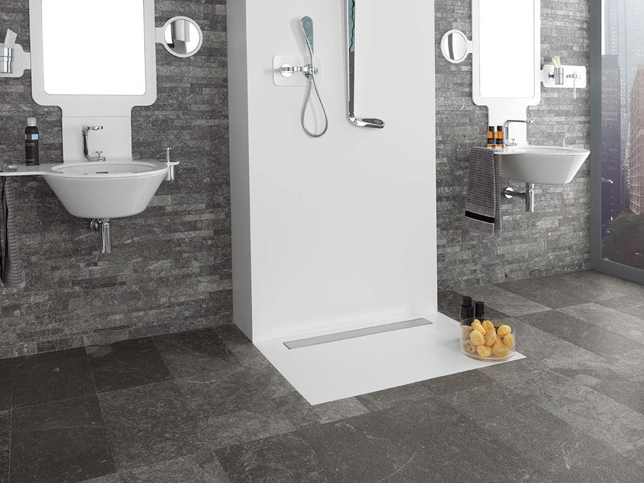 Marble natural stone floor tiles Mármol Habana Brown Lined Home ...