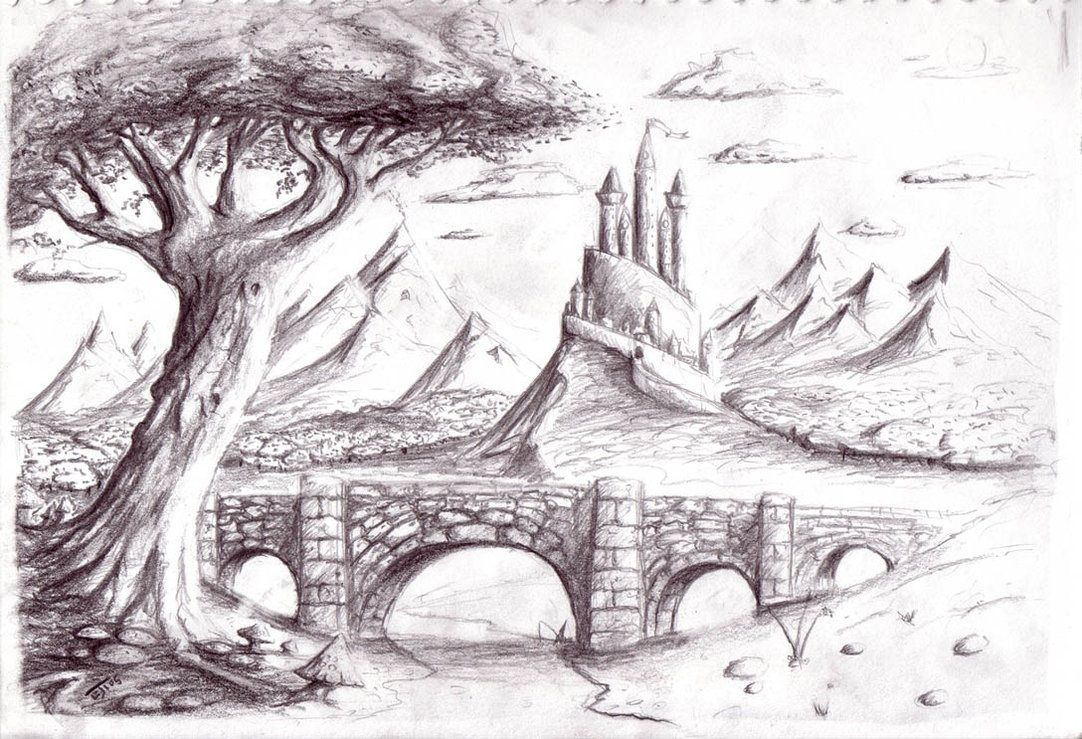 Pencil drawings of natural scenery picture images for drawings of nature scenery nature
