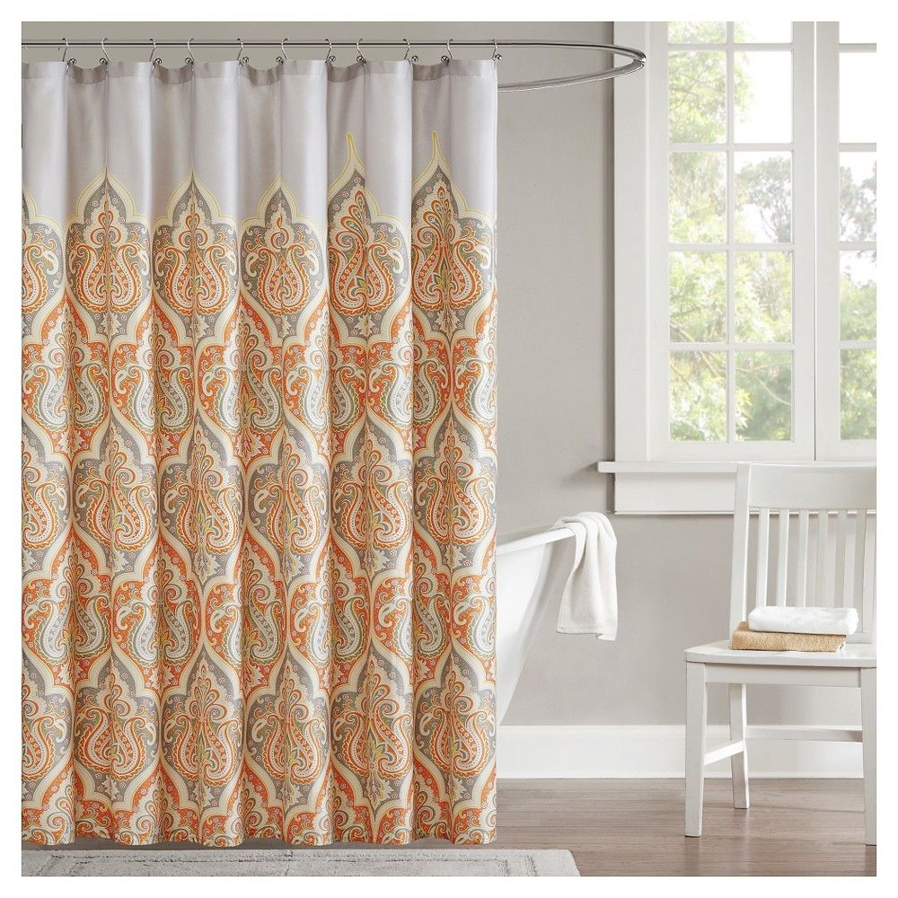 Naomi Shower Curtain Orange 72 Quot X72 Quot Mesmerizing