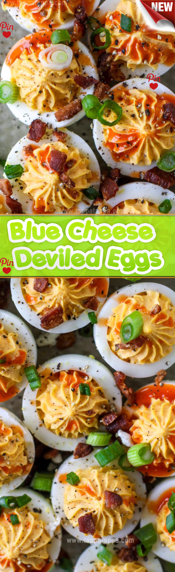 Buffalo Blue Cheese Deviled Eggs Recipe Not that I ever ate them. Even now that I have the gift of hindsight I cant say what governed my sensibilities around deviled eggs as a child. Or any other food for that matter which is a common trial many parents face when feeding their children. I was no exception. #czechfood