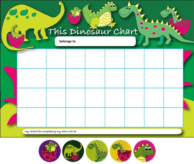 Printable Dinosaur Behavior Charts |   Viewing: Home > Reward