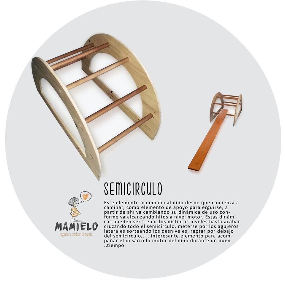Semicirculo inspiracion Pikler De mamielo, 80€: https://www.facebook.com/juguetesmamielo/photos/pb.784805961614012.-2207520000.1447450499./897675350327072/?type=3&theater
