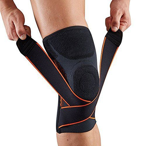 f7392e74 Product review for Compression Knee Sleeve/Knee Brace with Adjustable Strap  and Silicone Ring for Running, Jogging, Basketball, Joint Pain  Relief-Single ...