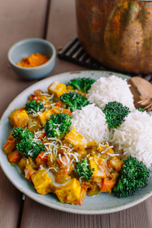 One Pot Coconut Turmeric Stew