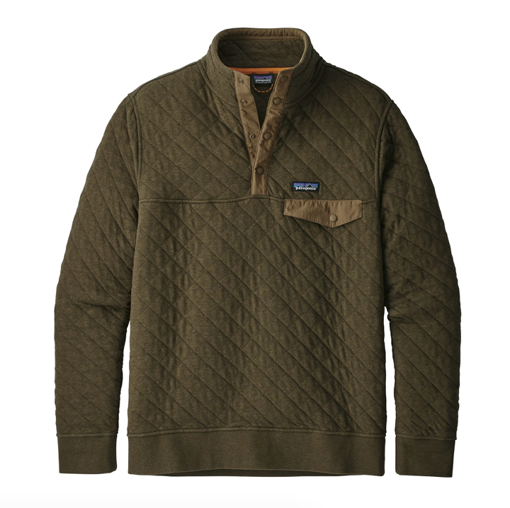 Patagonia Men S Cotton Quilt Snap T 174 Pullover Sediment