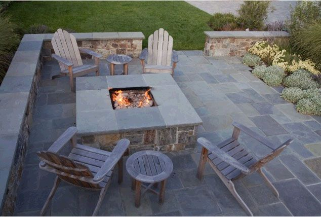 how to build a stacked stone fire pit