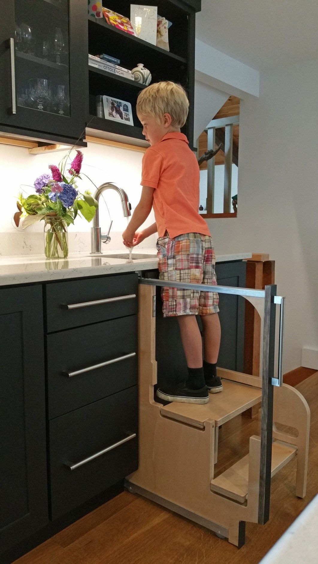 The Hideaway Solutions Step 180 Kitchen Step Stool Kitchen