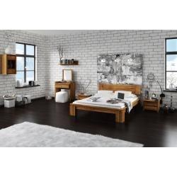 Kinderbett / Jugendbett Hermann 01 inkl. Lattenrost und graue Kissen, Farbe: Weiß gebleicht / Braun #whitemarbleflooring