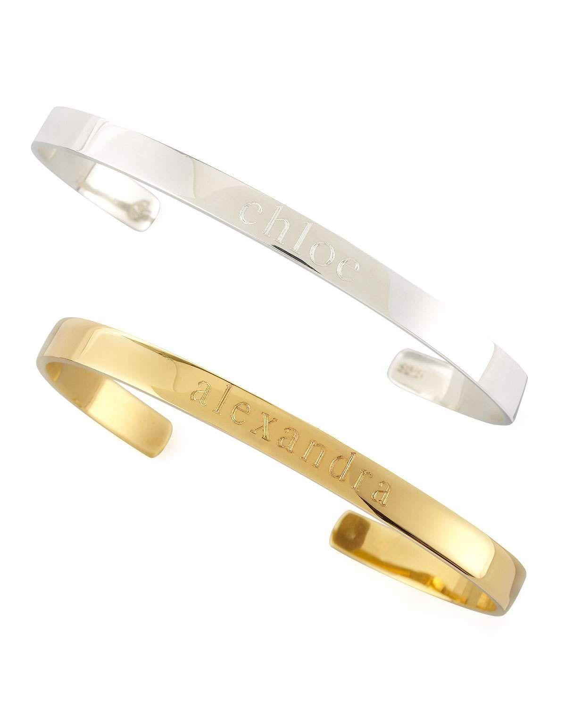 Sarah Chloe Ciela Personalized ID Bracelet, Silver